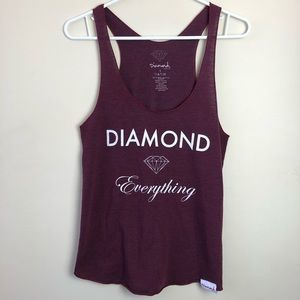 Diamond Supply Co Size L Racerback Tank Top